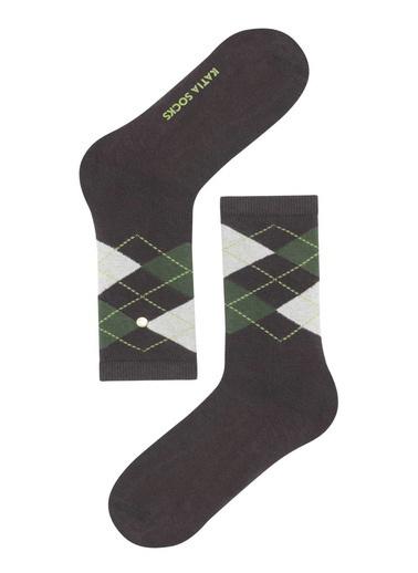 Katia & Bony Argyle Kadın Soket Çorap  Kahve